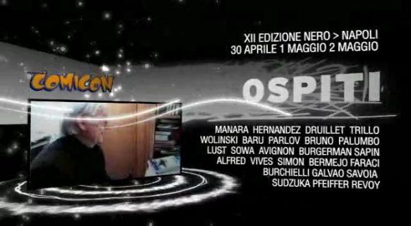 banner promozionale della XII edizione del Napoli Comicon.