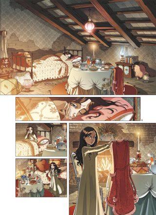 """Pagina estratta dalla serie """"PRINCESSE SARA"""" pubblicata da Soleil/Delcourt in Francia"""