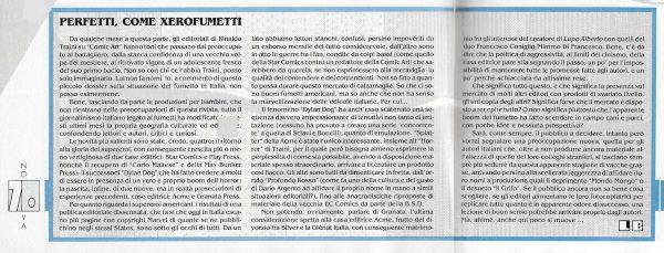 Breve articolo scritto da Luigi Bernardi dal n. 1 della rivista Nova Express