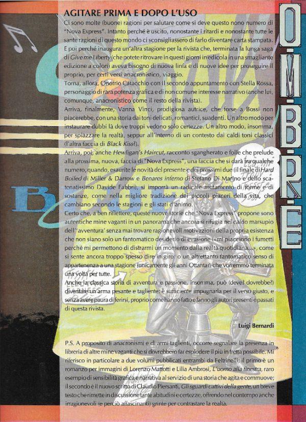 Editoriale scritto da Luigi Bernardi del n. 9 della rivista Nova Express