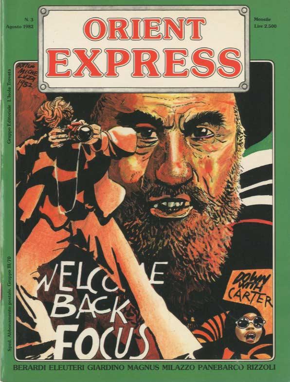 Copertina del n. 3 della rivista Orient Express (Agosto 1982)